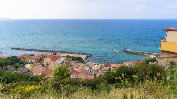 View of Calabrian coast in Pizzo town, Italy