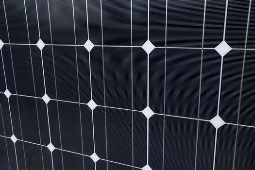 Detailed closeup of solar panel as a background