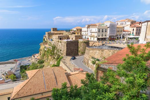 Panoramic view of Pizzo Calabro town center, Calabria, Italy
