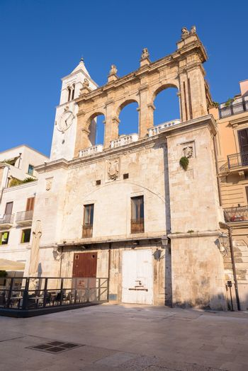 Building of Sedile Palace on the Mercantile square in Bari, Apulia, Italy