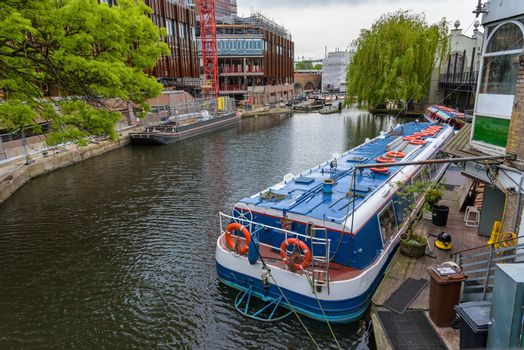 View of Regents Canal in Camden Town in London