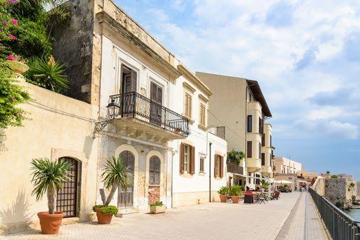 Sea promenade on Ortygia Island in Syracuse, Sicily, Italy