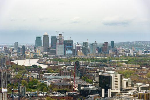 London skyline on a cloudy day