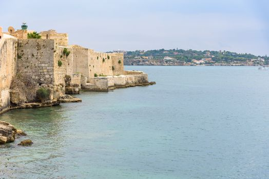 Waterfront of Ortygia Island in Syracuse, Sicily, Italy