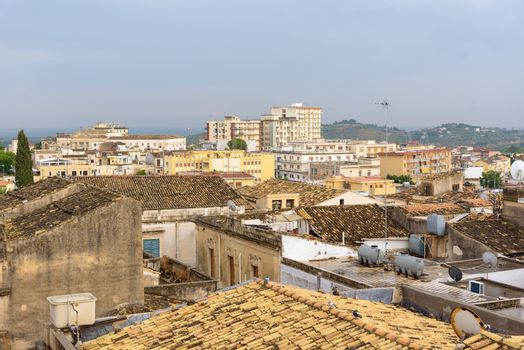 Aerial view of Noto town