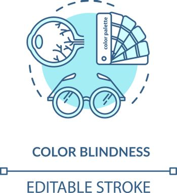 Color blindness concept icon