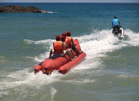 Inflatable Raft and Jet Ski