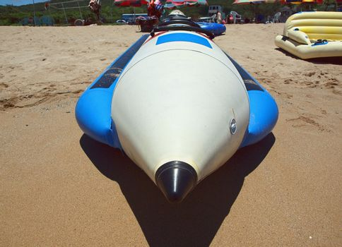 Inflatable Boat on a Beach