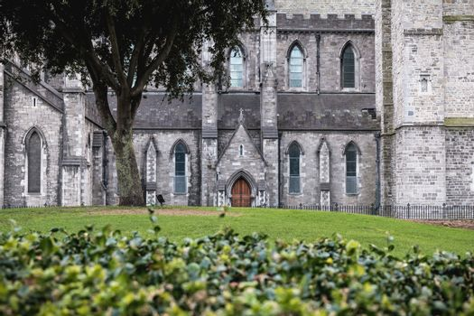 architectural detail of St Patrick's Cathedral, Dublin Ireland.