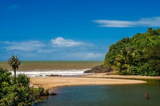 Beautiful scenery of the ocean coast in northern Madagascar