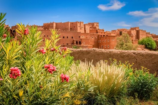 Magnificent kasbah – old traditional arab fortress In the city of Ouarzazate