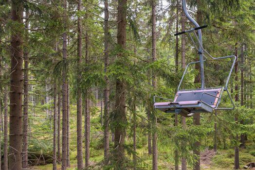 Chair lift to Szrenica Mountain in Giant Mountains in Szklarska Poreba, Poland