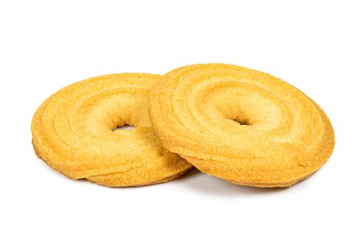 Butter cookies isolated on white background with clipping path