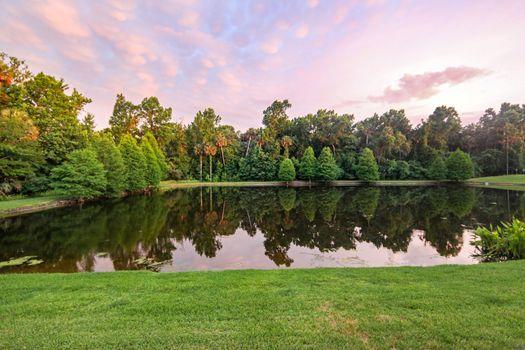 Lake Reflections at Sunset