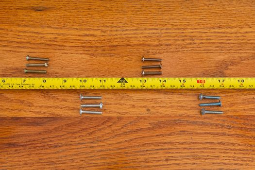 Screws and Tape Measure