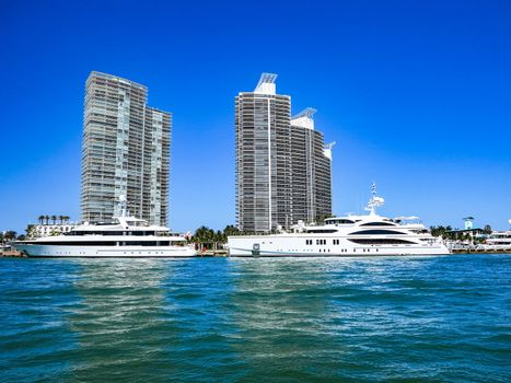 Yachts and Modern Buildings