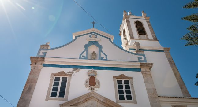 architectural detail of the Church of Our Lady of the Annunciation in Setubal, Portugal