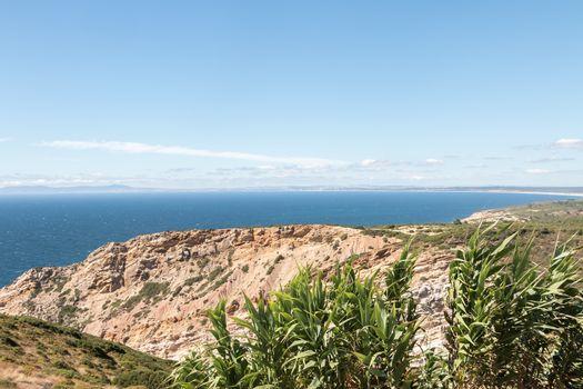 sea view from the cliffs of Cape Espichel near Sesimbra, Portugal