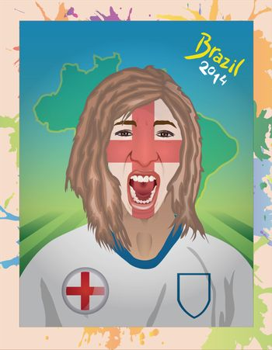 England football fan shouting