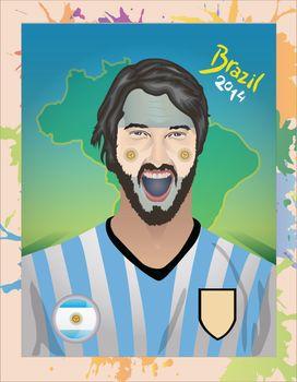 Argentina football fan