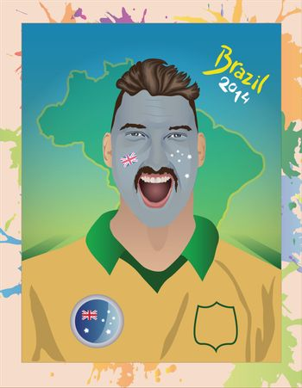 Australia football fan