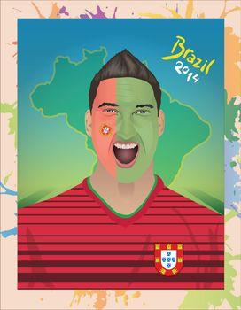 Portugal football fan