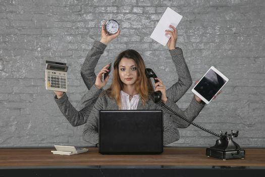 young business woman is irreplaceable in her position