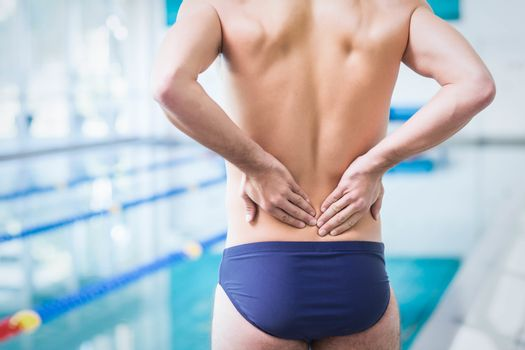 Fit man with back ache