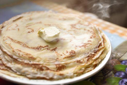freshly made pancakes. Breakfast ideas. American food,Good morning