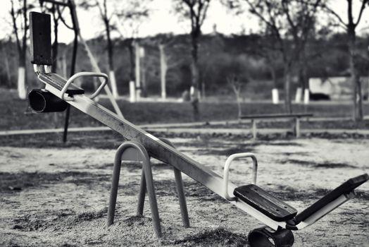 Old Swing, black white photo