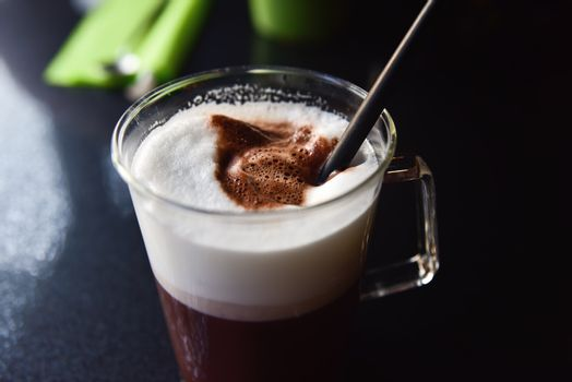 Cold or ice coffee, restaurant, cafe bar