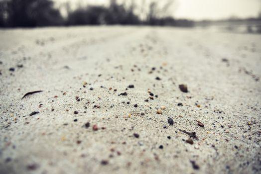 Sand on the beach, macro photo, white sand