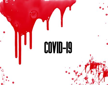 Blood background of coronavirus covid 19