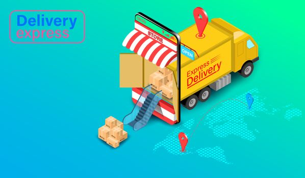 Delivery express concept