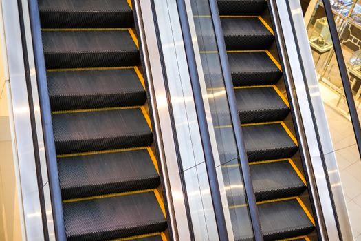 Escalator close up and detail