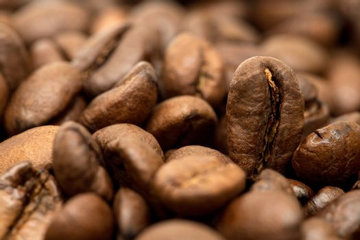 Coffee beans group fresh roasted arabica