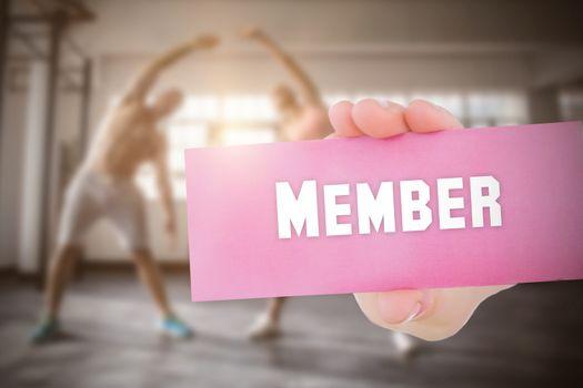 Member against people background