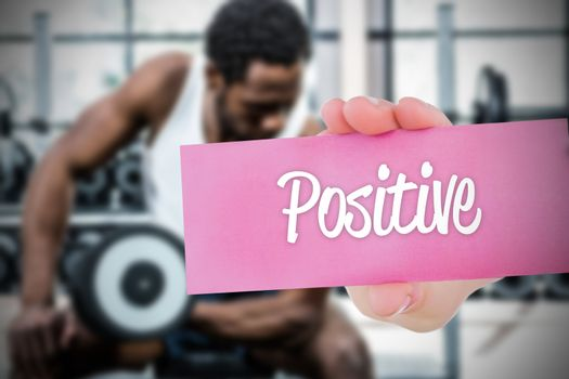 Positive against people background