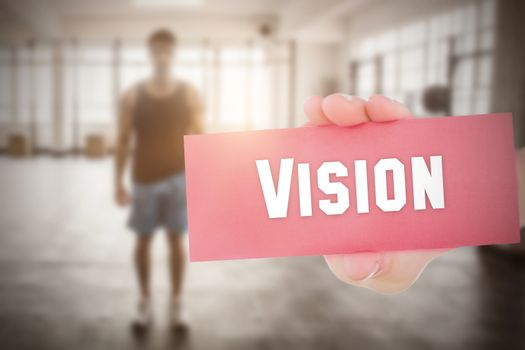 Vision against people background
