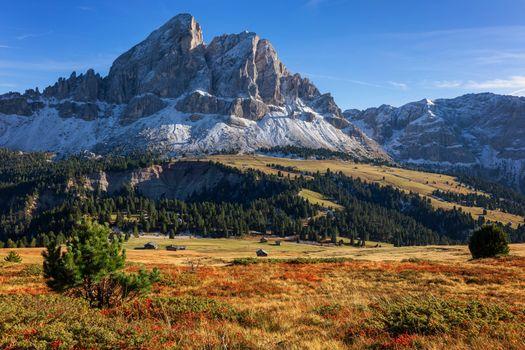 Sass de Putia, Dolomiti - Peitlerkofel, mountain, Dolomites, Alp