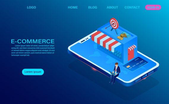 E-commerce shopping online on smartphone