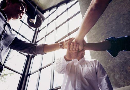 Teamwork Join Hands combine the power of work. Teamwork concept