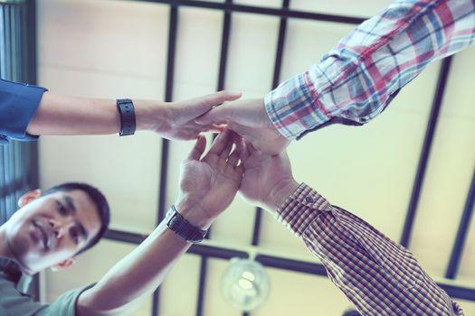 Businessmen shake hands After business negotiation
