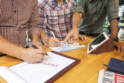 Business conferencing concepts for work planning. Teamwork concept