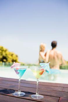 Cocktails on pools edge