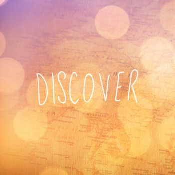 Composite image of discover word