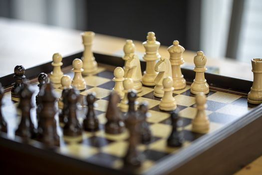 Chess financial business strategy. strategy ideas Planning and Decision concept business