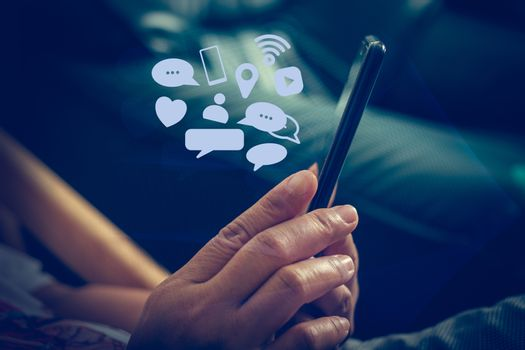 Social media Communicate anywhere and anytime, Social media concepts.