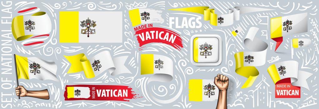 Vector set of Vatican in various creative designs.