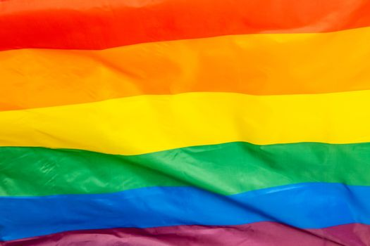 The Rainbow Flag, used as a symbol of lesbian, gay, bisexual, transgender, and queer (LGBTQ) pride and LGBTQ social movements.